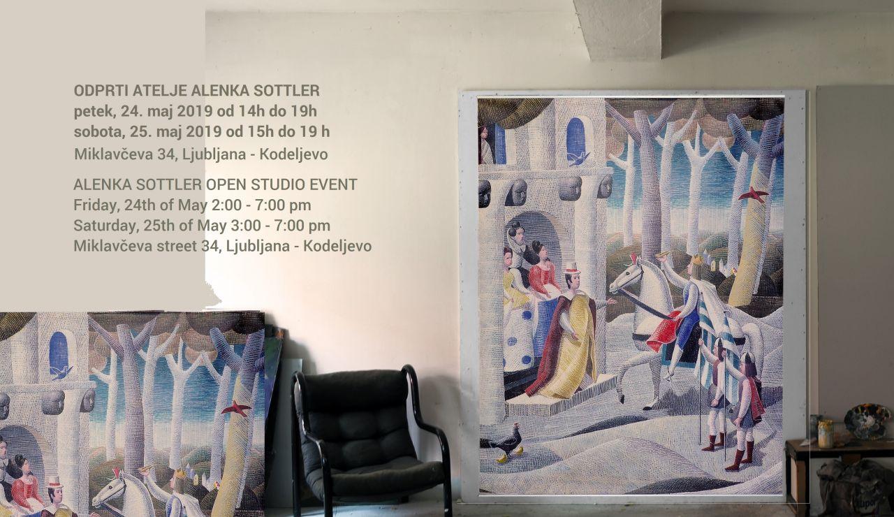Umetnost in sodobni ambienti: tapiserija  ilustracije Alenke Sottler iz knjige PEPELKA